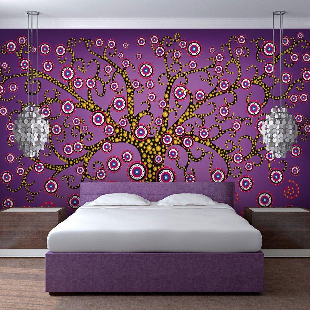 Fototapeta   abstrakcja drzewo fioletowy