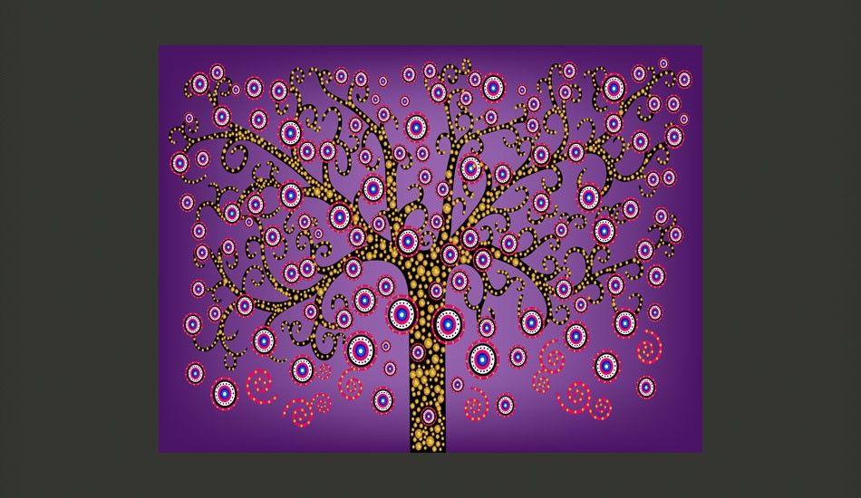 Fototapeta   abstrakcja drzewo fioletowy  3
