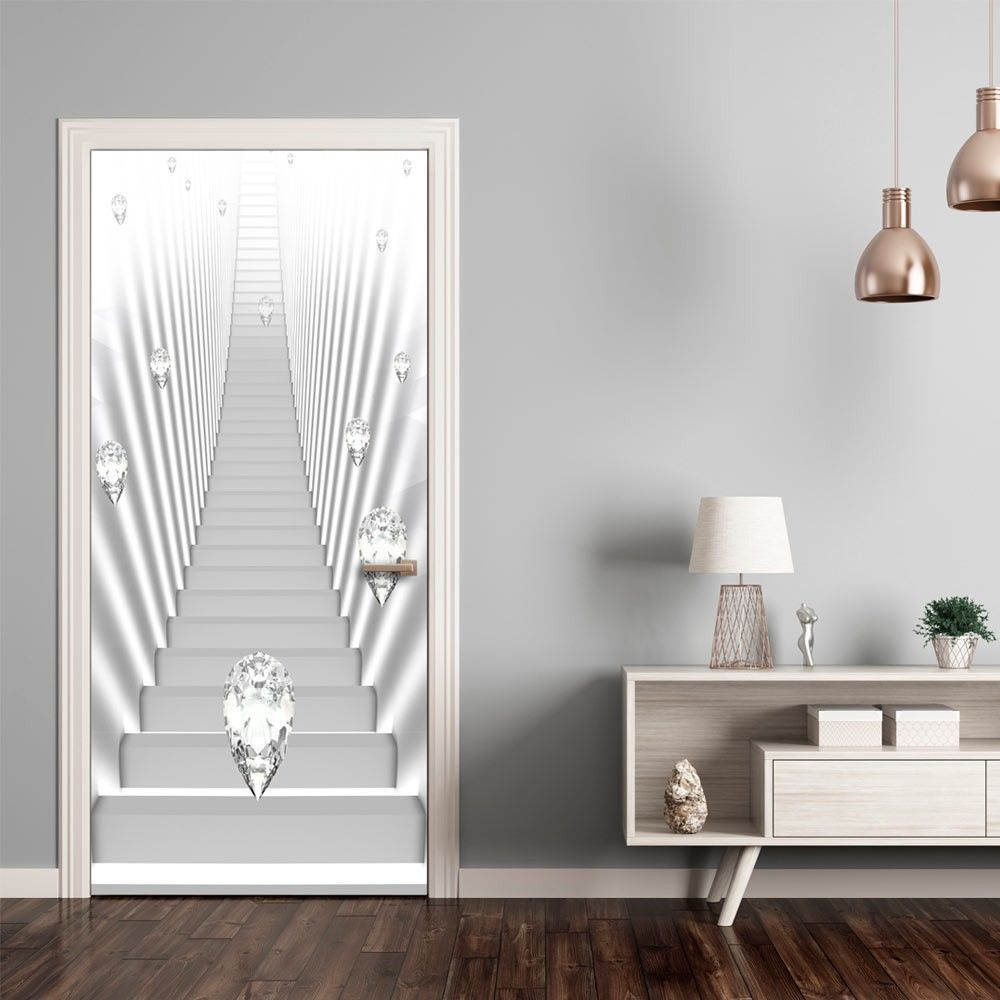 Fototapeta na drzwi   Tapeta na drzwi   Bia e schody i klejnoty