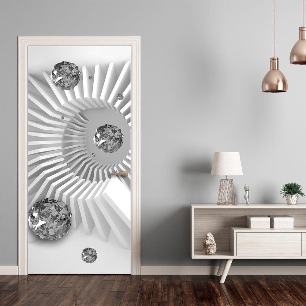 Fototapeta na drzwi   Tapeta na drzwi   Czarno bia a abstrakcja