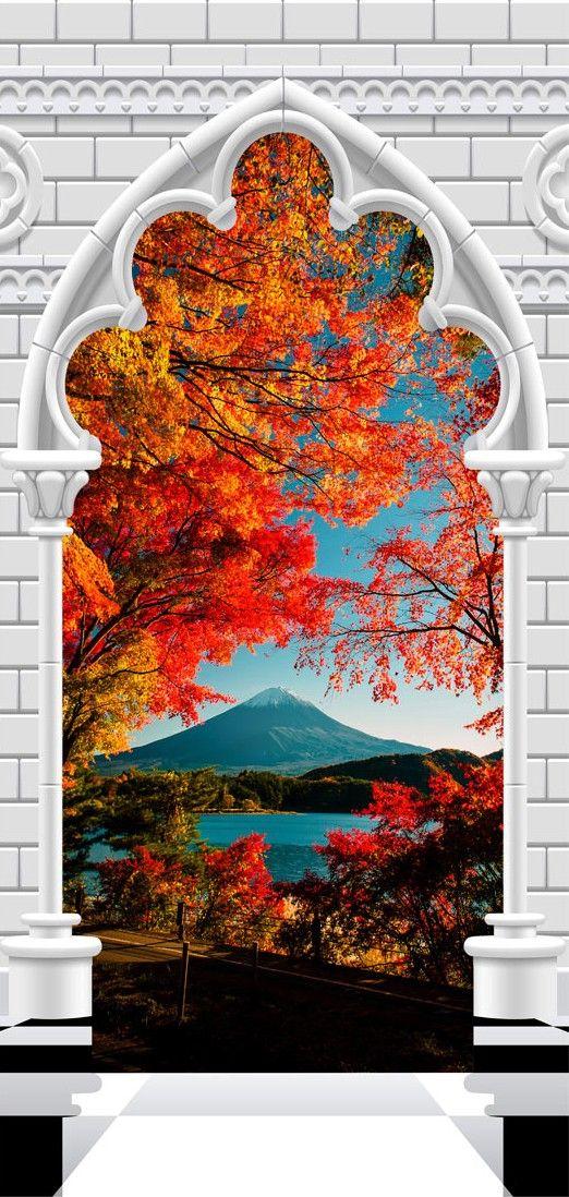 Fototapeta na drzwi   Tapeta na drzwi   uk gotycki i g ra Fuji 3