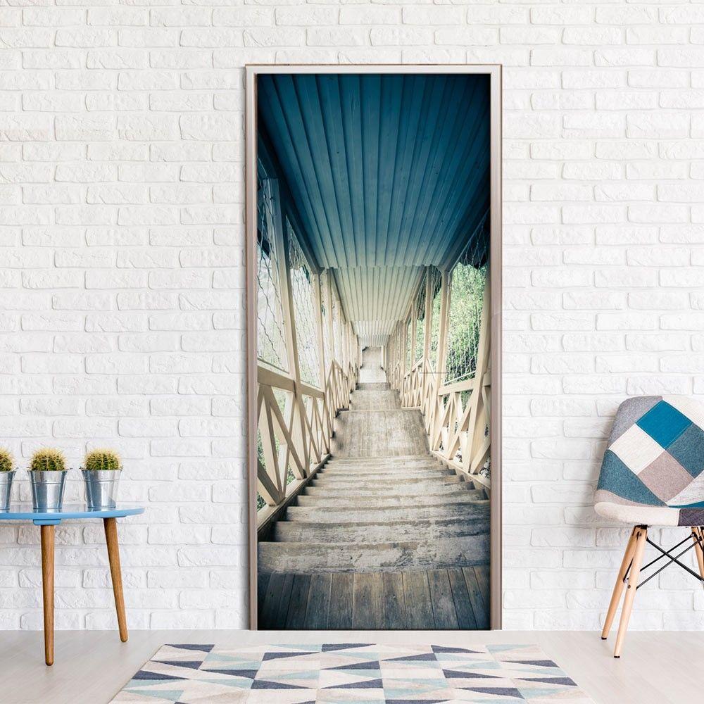 Fototapeta na drzwi   Zabytkowe drewniane schody