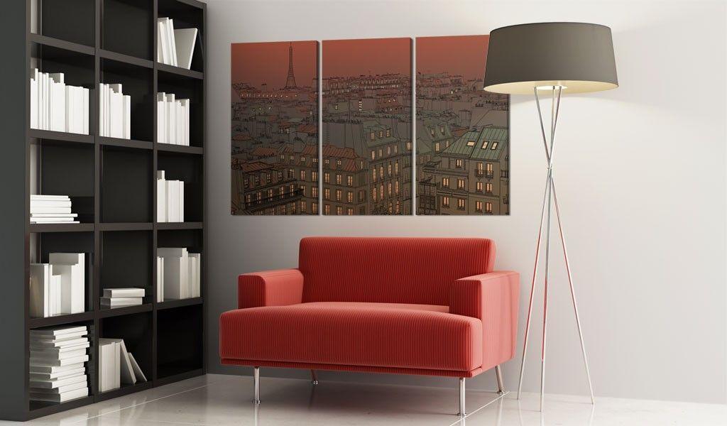 Obraz   Paryska Wie a Eiffla na tle zachodz cego s o ca 3