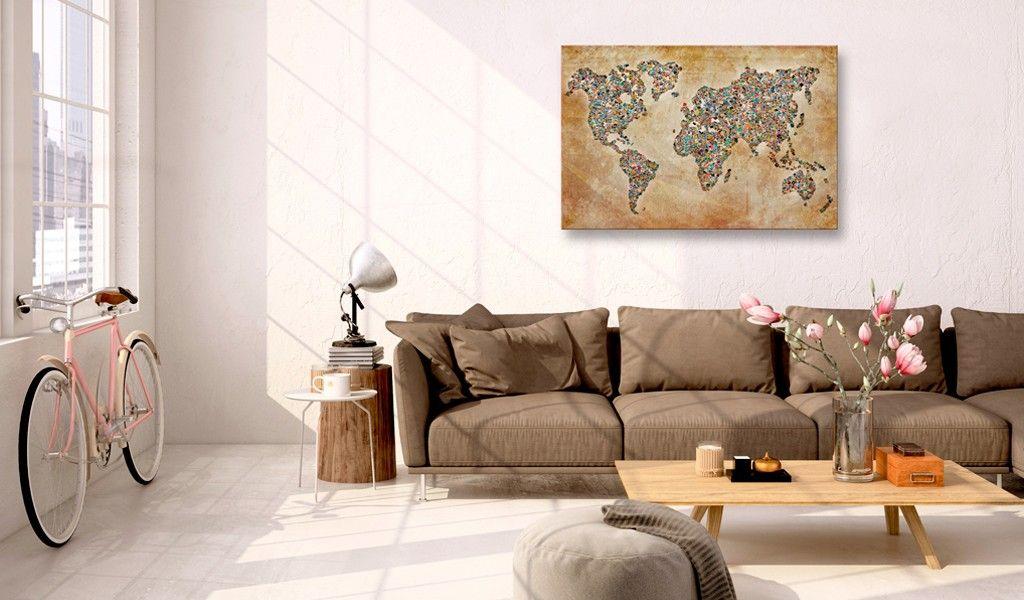 Obraz na korku   Poczt wki ze wiata Mapa korkowa  3