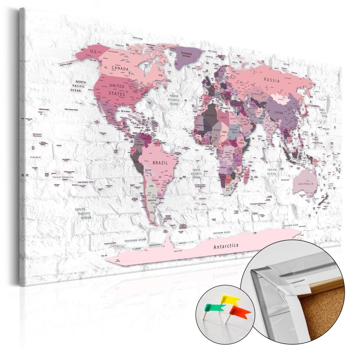 Obraz na korku   R owe rubie e Mapa korkowa