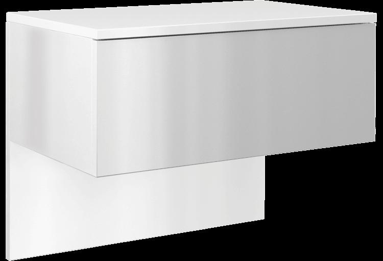 Szafka wisząca z szufladą Elektra (biały połysk)