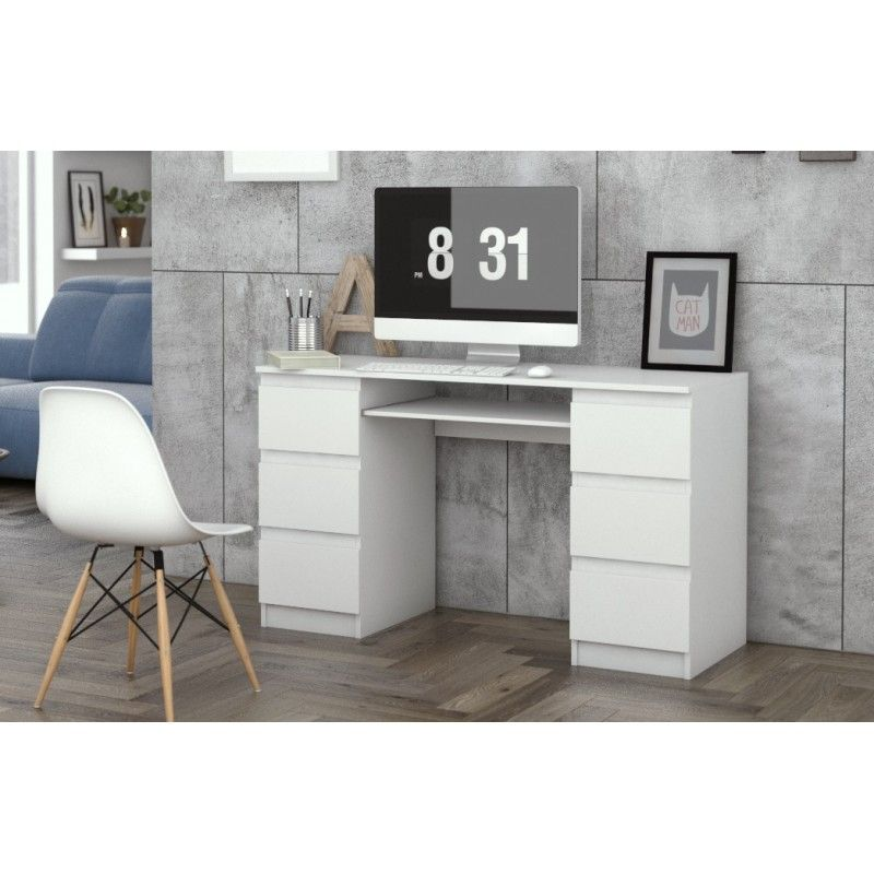 biurko komputerowe kuba biel 6 szuflad2