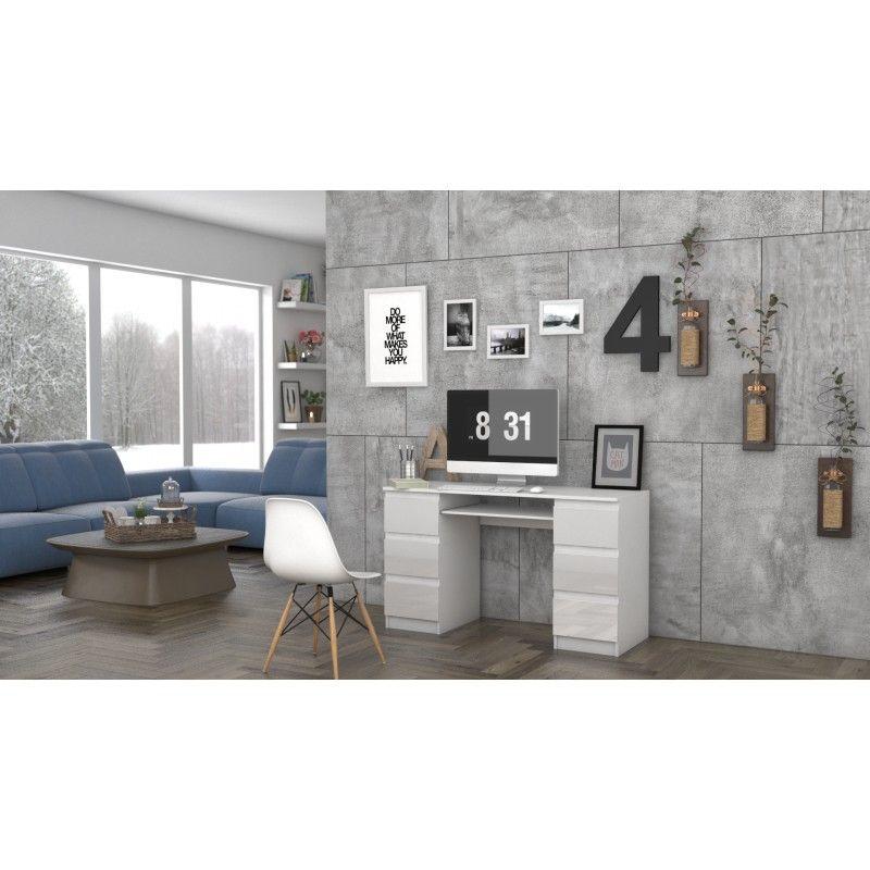 biurko komputerowe kuba biel polysk 6 szuflad7