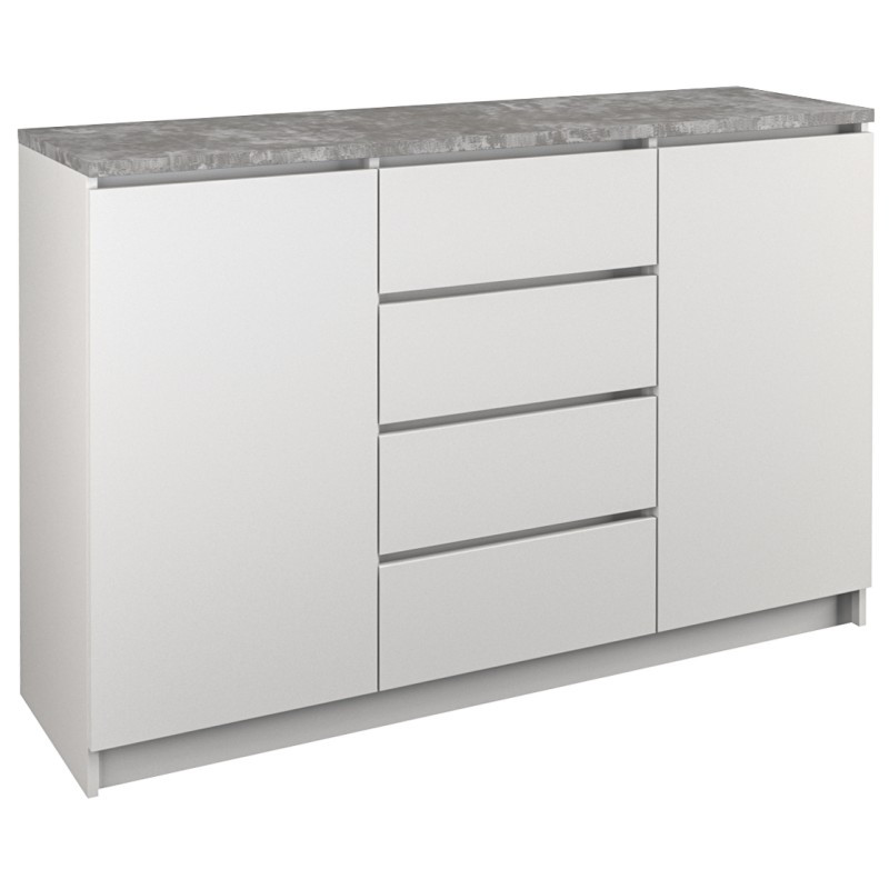 Komoda Aramis (biały/ beton)