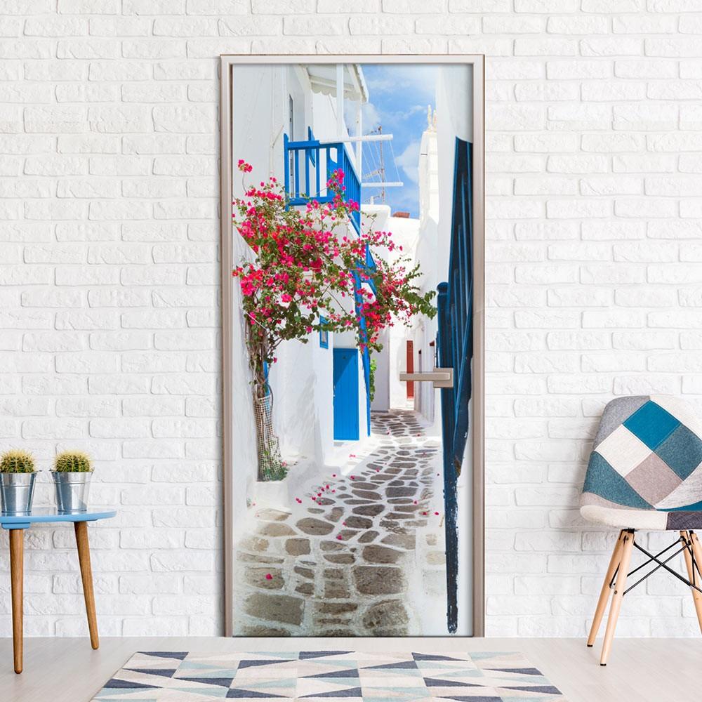 Fototapeta na drzwi - Spacer po Santorini