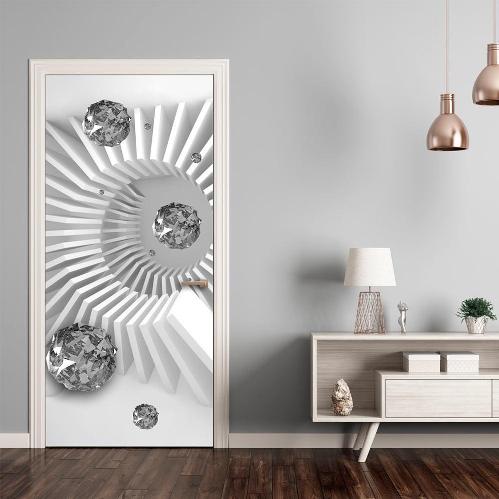 Fototapeta na drzwi - Tapeta na drzwi - Czarno-biała abstrakcja