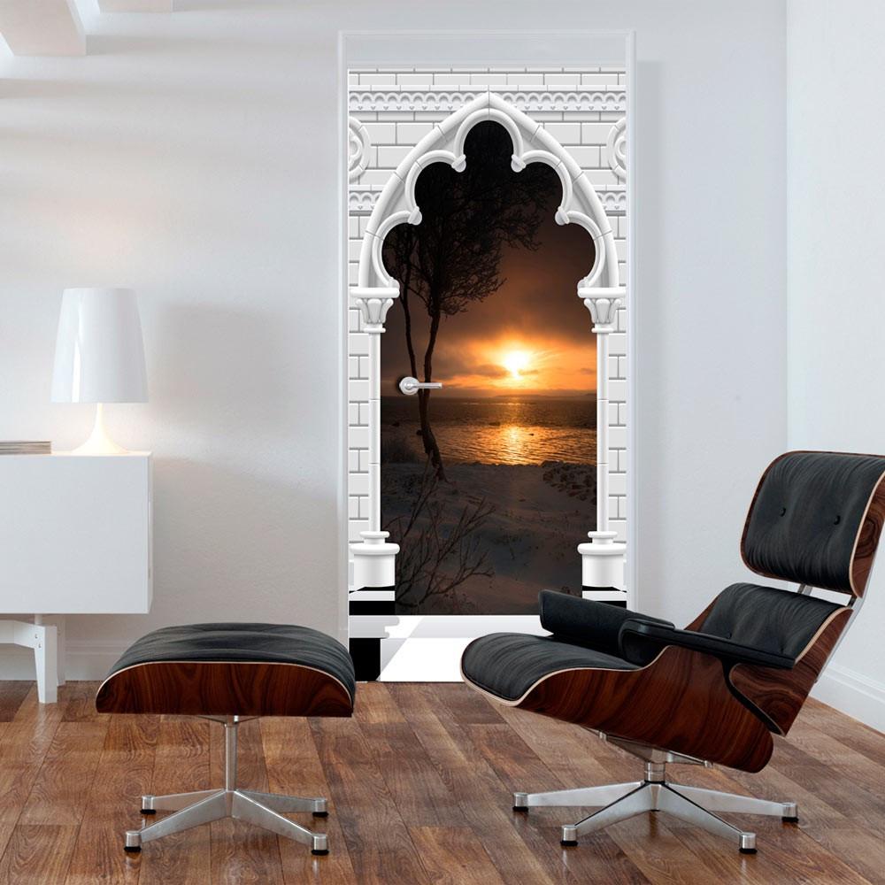 Fototapeta na drzwi - Tapeta na drzwi - Łuk gotycki i zachód słońca
