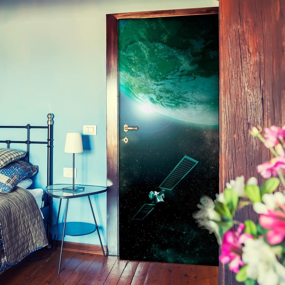 Fototapeta na drzwi - Zielona galaktyka