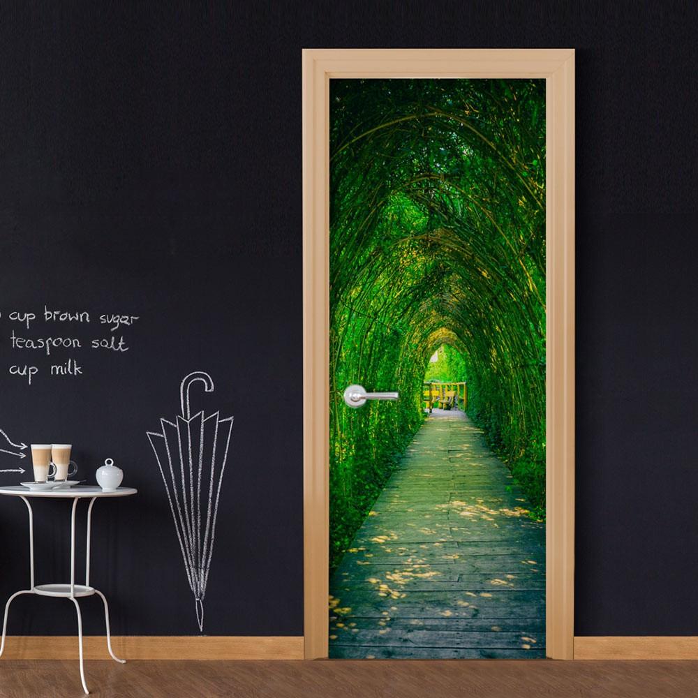 Fototapeta na drzwi - Zielony korytarz