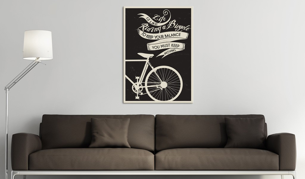 Obraz - Life is like riding a bicycle...