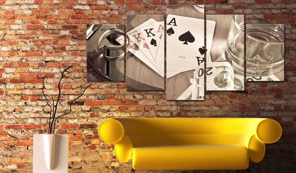 Obraz - Pokerowa noc - sepia