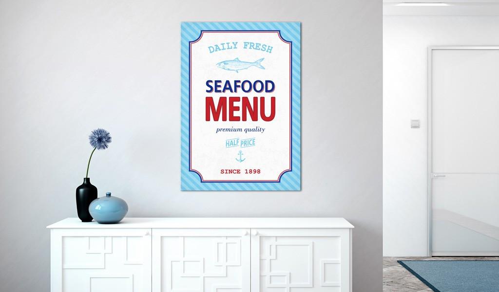 Obraz - Seafood menu