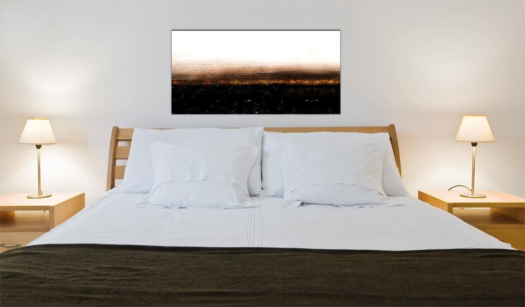 Obraz malowany - Black soil (Abstraction)