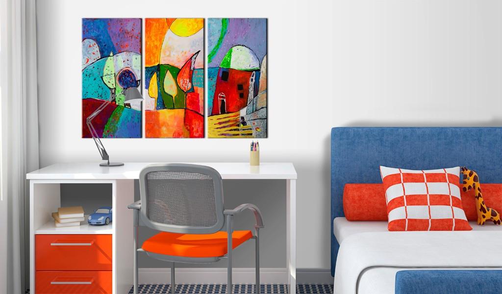 Obraz malowany - Kolorowy pejzaż