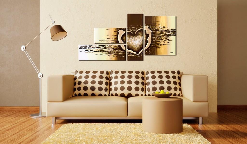 Obraz malowany - Miłosny lot