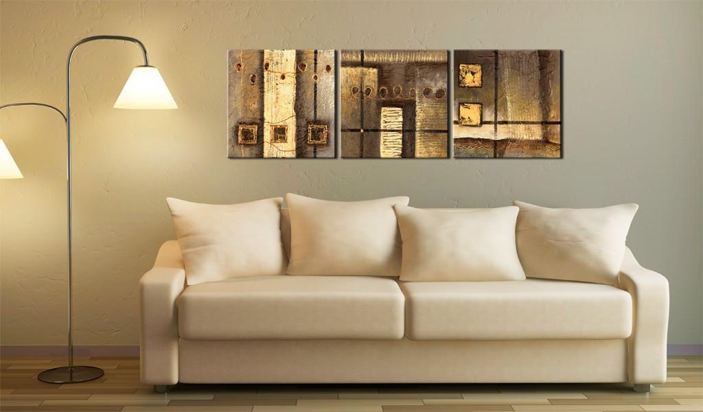 Obraz malowany - Złota kompozycja