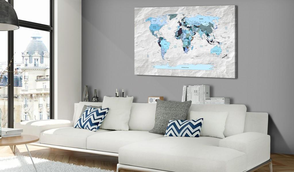 Obraz na korku - Błękitne pielgrzymki [Mapa korkowa]