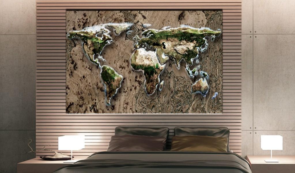 Obraz na korku - Dziki świat [Mapa korkowa]