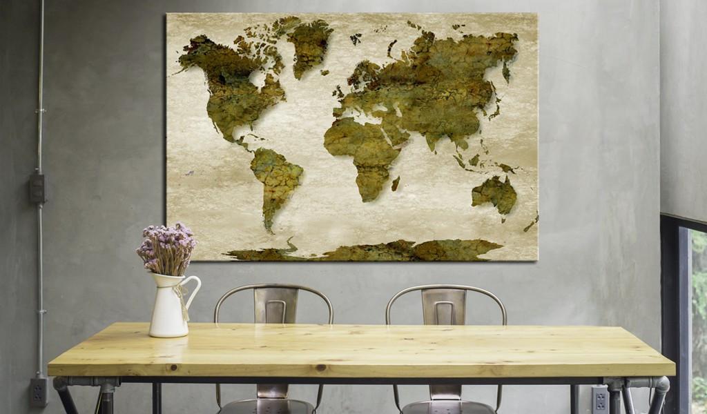 Obraz na korku - Leśna planeta [Mapa korkowa]