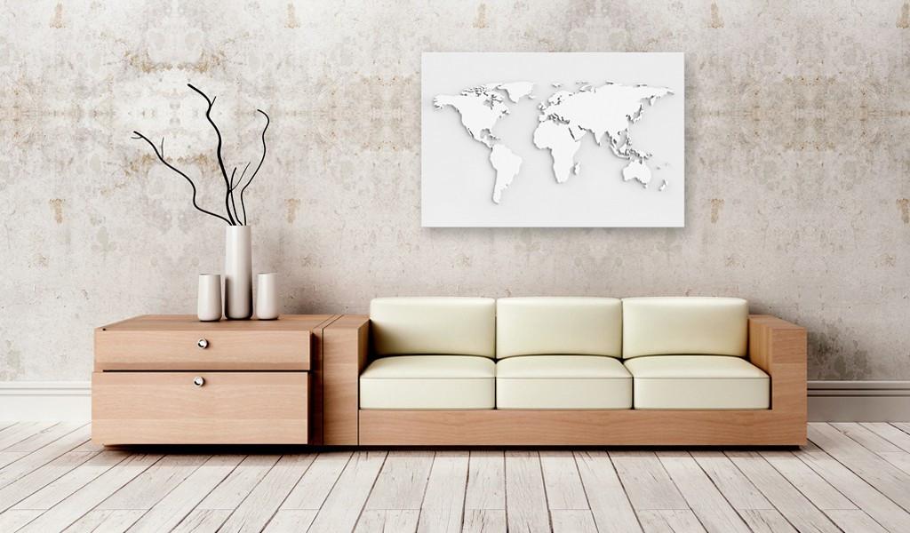 Obraz na korku - Monochromatyczny świat [Mapa korkowa]