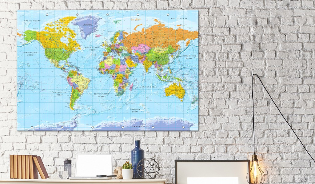 Obraz na korku - Orbis Terrarum [Mapa korkowa]