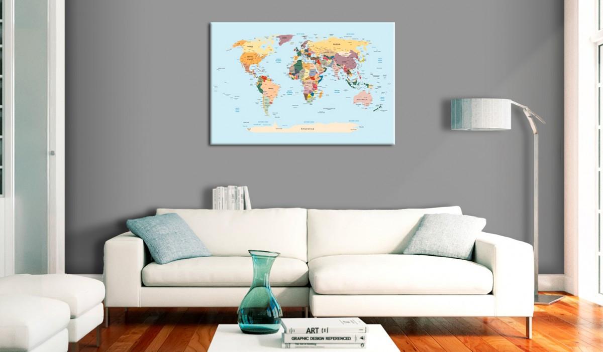 Obraz na korku - Podróżuj ze mną [Mapa korkowa]