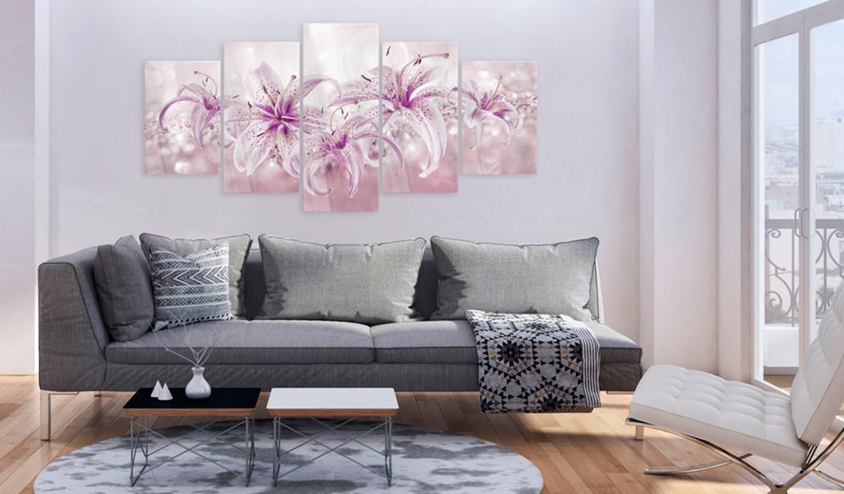 Obraz na szkle akrylowym - Fioletowa harmonia [Glass]