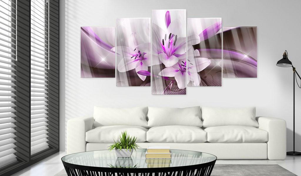 Obraz na szkle akrylowym - Fioletowa lilia pustynna [Glass]
