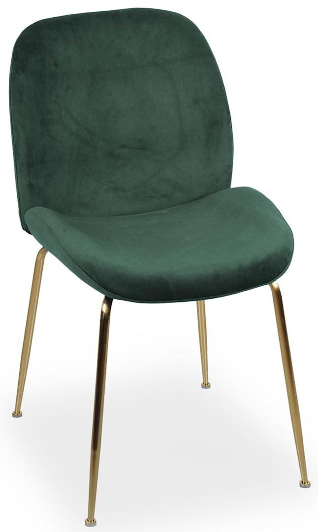 Krzesło Alex (zielony/złoty)