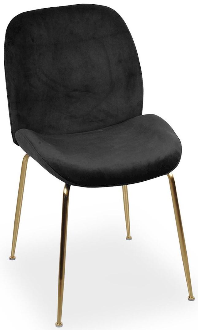 Krzesło Alex (czarny/złoty)