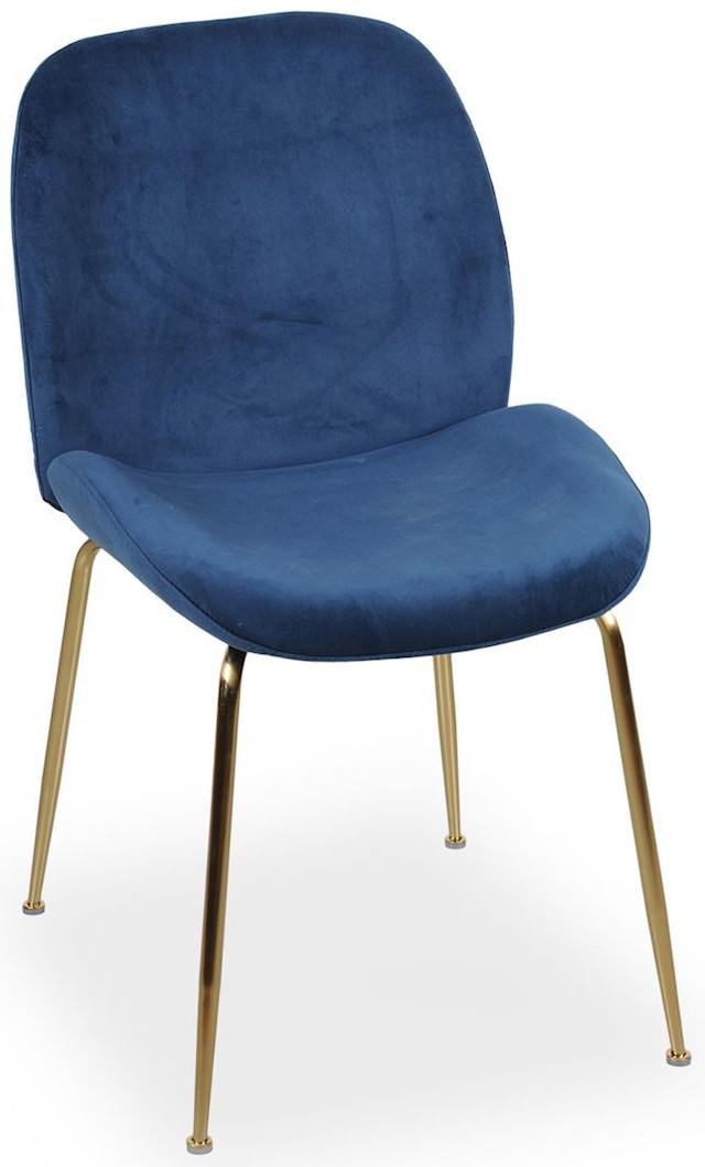 Krzesło Alex (granatowy/złoty)