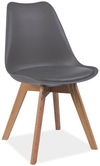 Krzesło Bergen (ciemny szary)