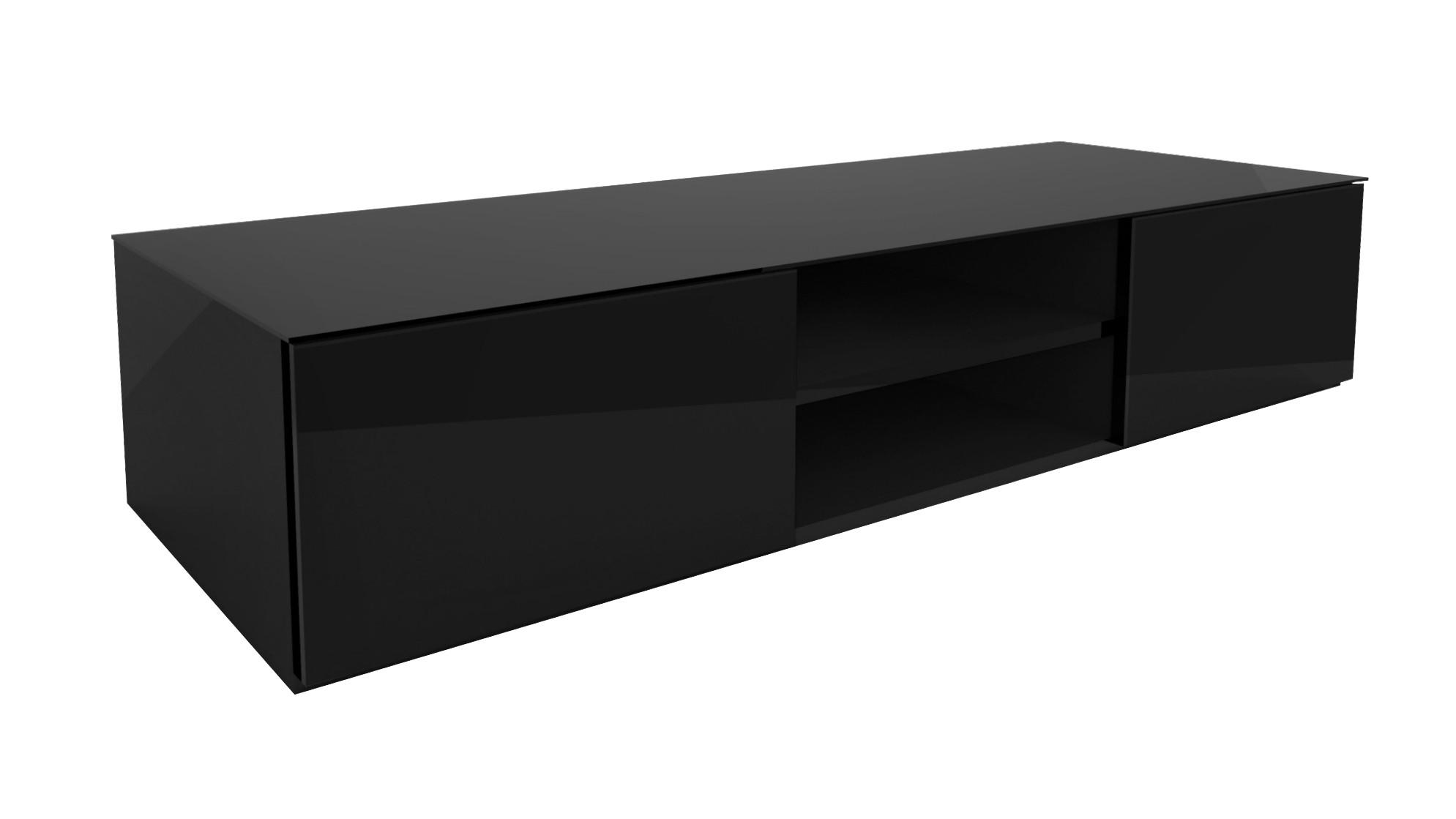 Szafka RTV Carbo czarna - wysoki połysk