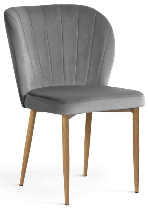 Krzesło Daria (szary/dąb)