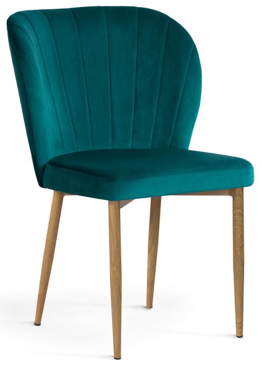 Krzesło Daria (turkusowy/dąb)