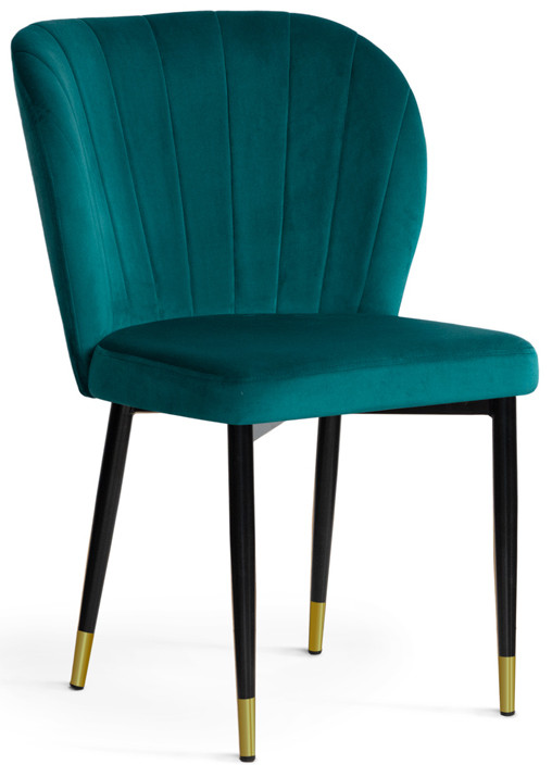 Krzesło Daria (turkusowy/złoty)