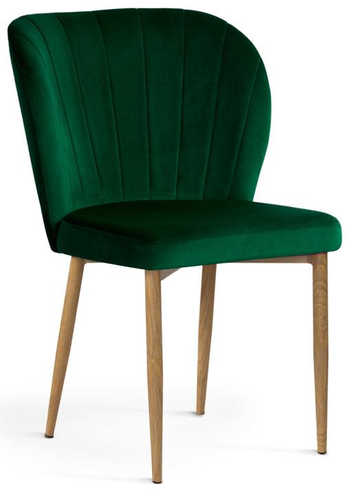 Krzesło Daria (zielony/dąb)
