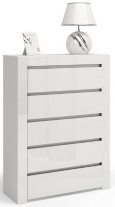 Komoda Diana P5 (biały połysk)