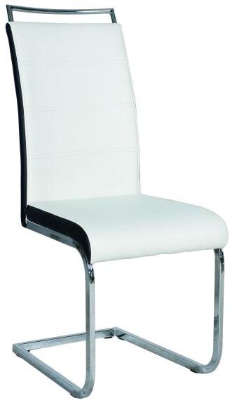 Krzesło Dobrawa 2 (biały/czarne boki)
