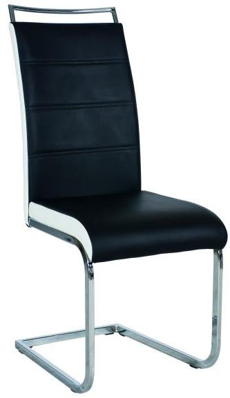 Krzesło Dobrawa 2 (czarny/białe boki)