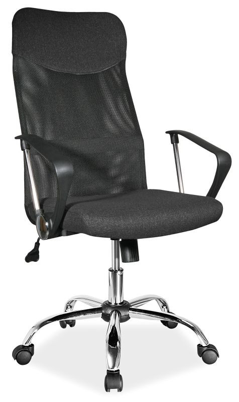 Fotel obrotowy Dora (czarny materiał)