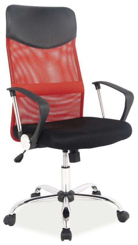 Fotel obrotowy Dora (czerwono-czarny)