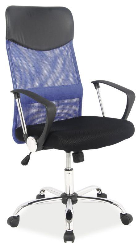 Fotel obrotowy Dora (niebiesko-czarny)