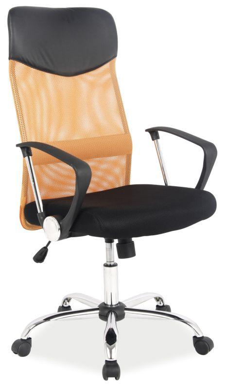 Fotel obrotowy Dora (pomarańczowo-czarny)