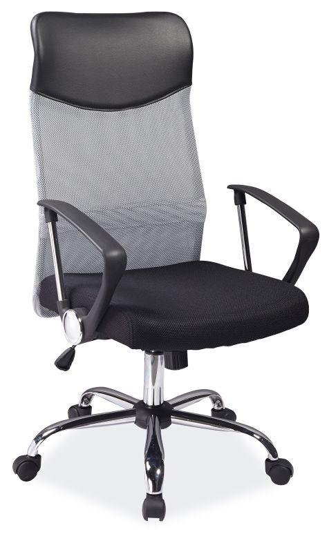 Fotel obrotowy Dora (szaro/czarny)